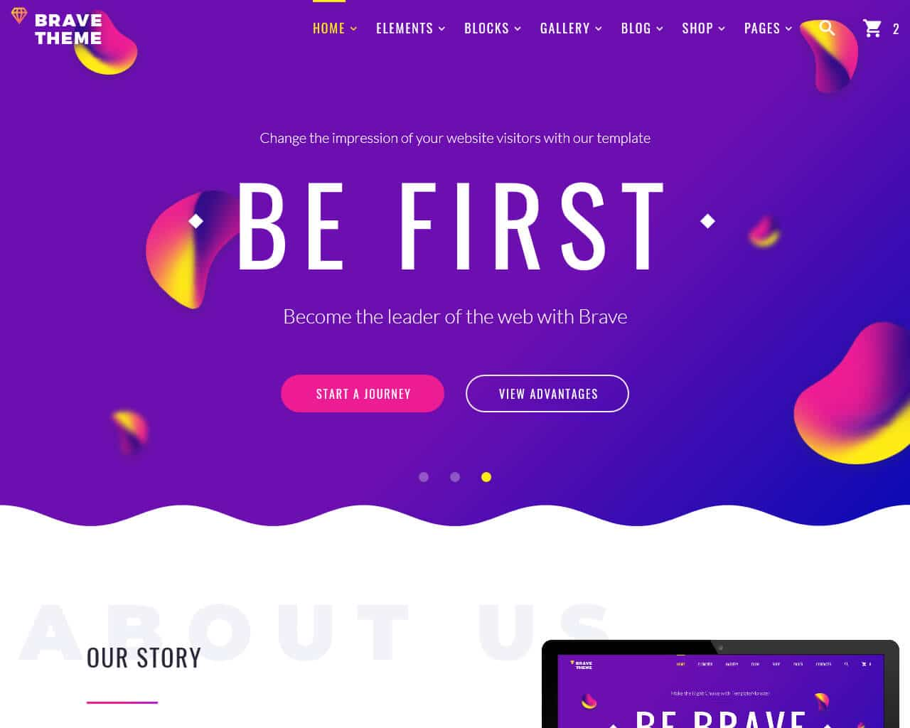 Brave Theme Website Template