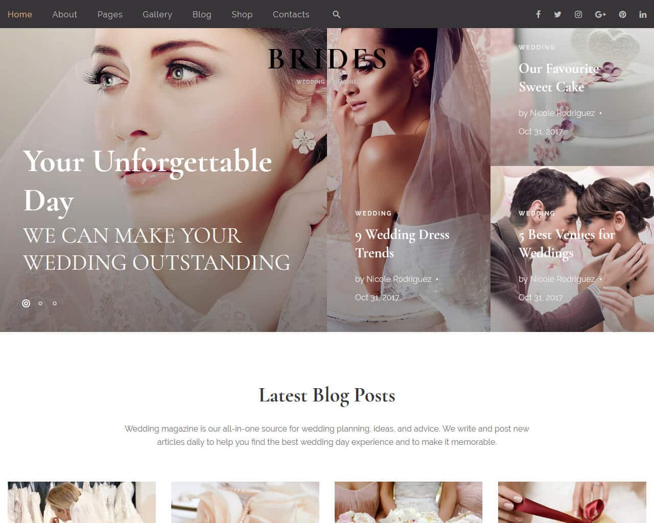 Brides Website Template