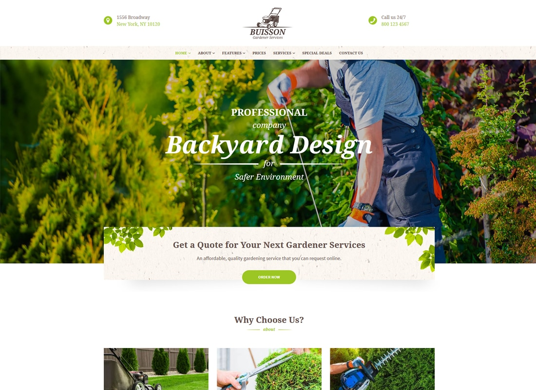 Buisson | Gardening WordPress Theme Website Template