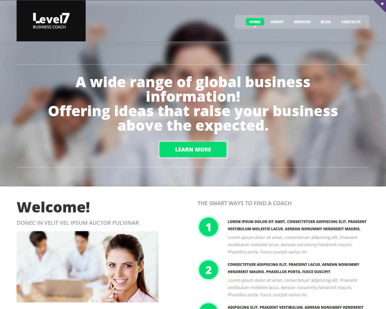 Business School Website Template