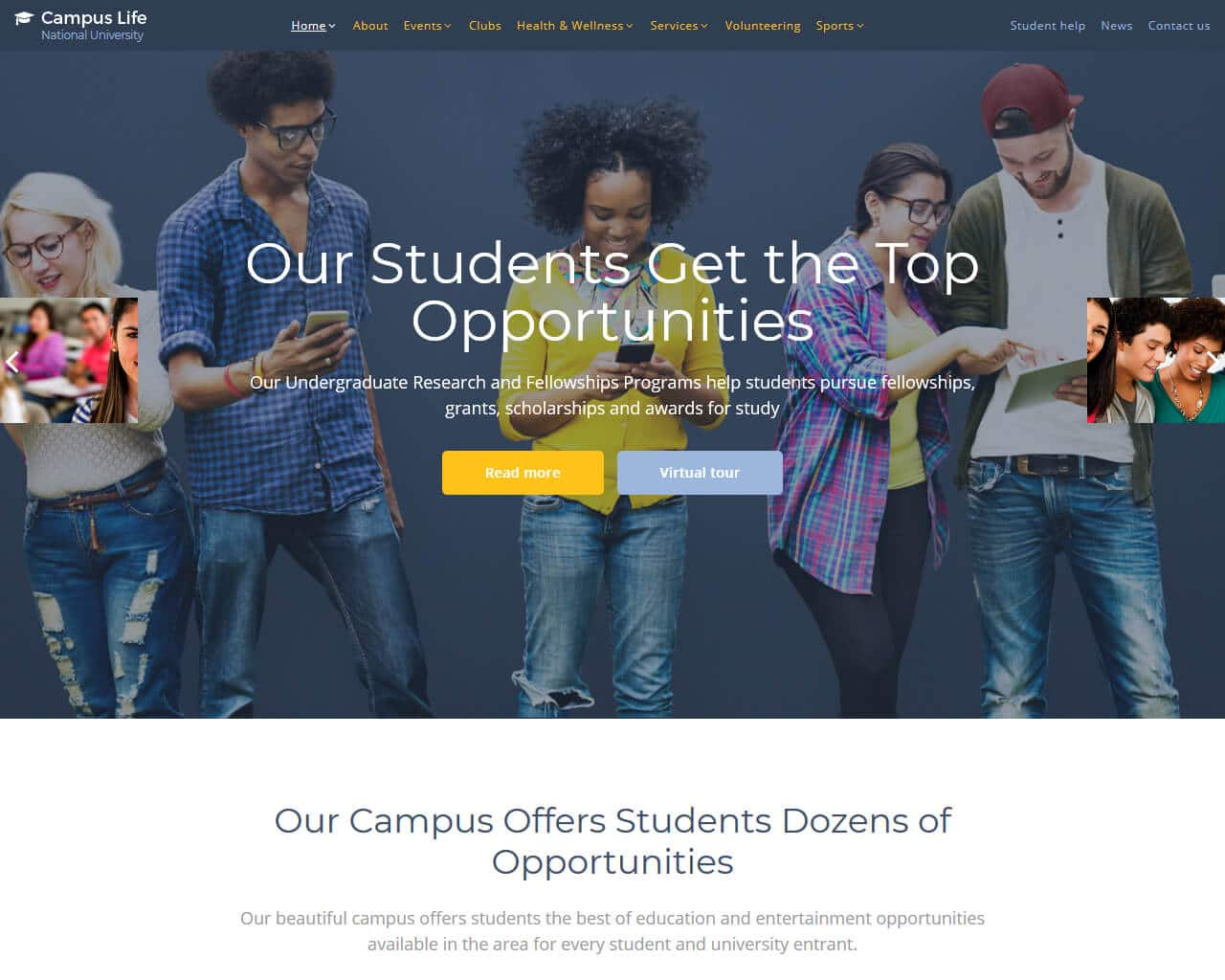 Campus Life Website Template