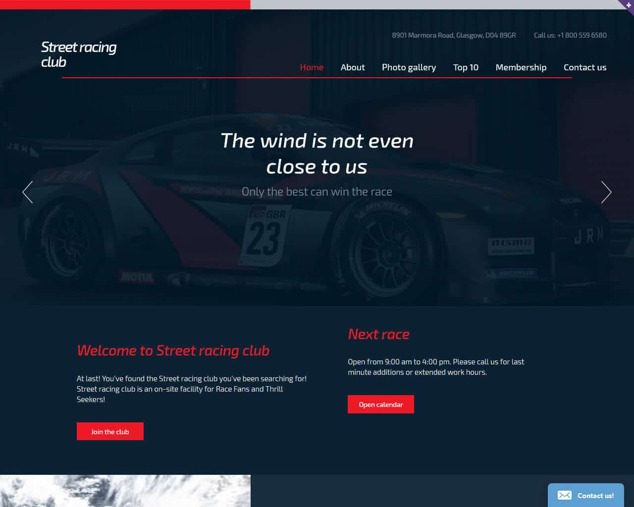 Car Club Website Template
