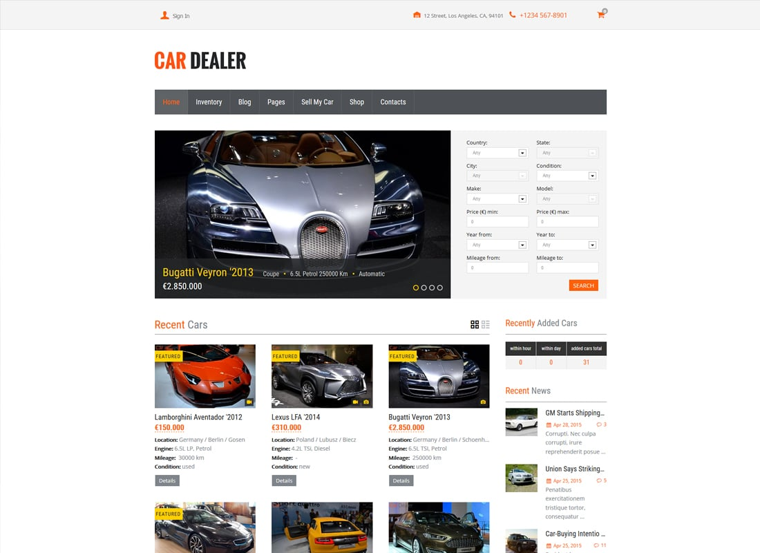 Car Dealer Automotive WordPress Theme – Responsive   Website Template