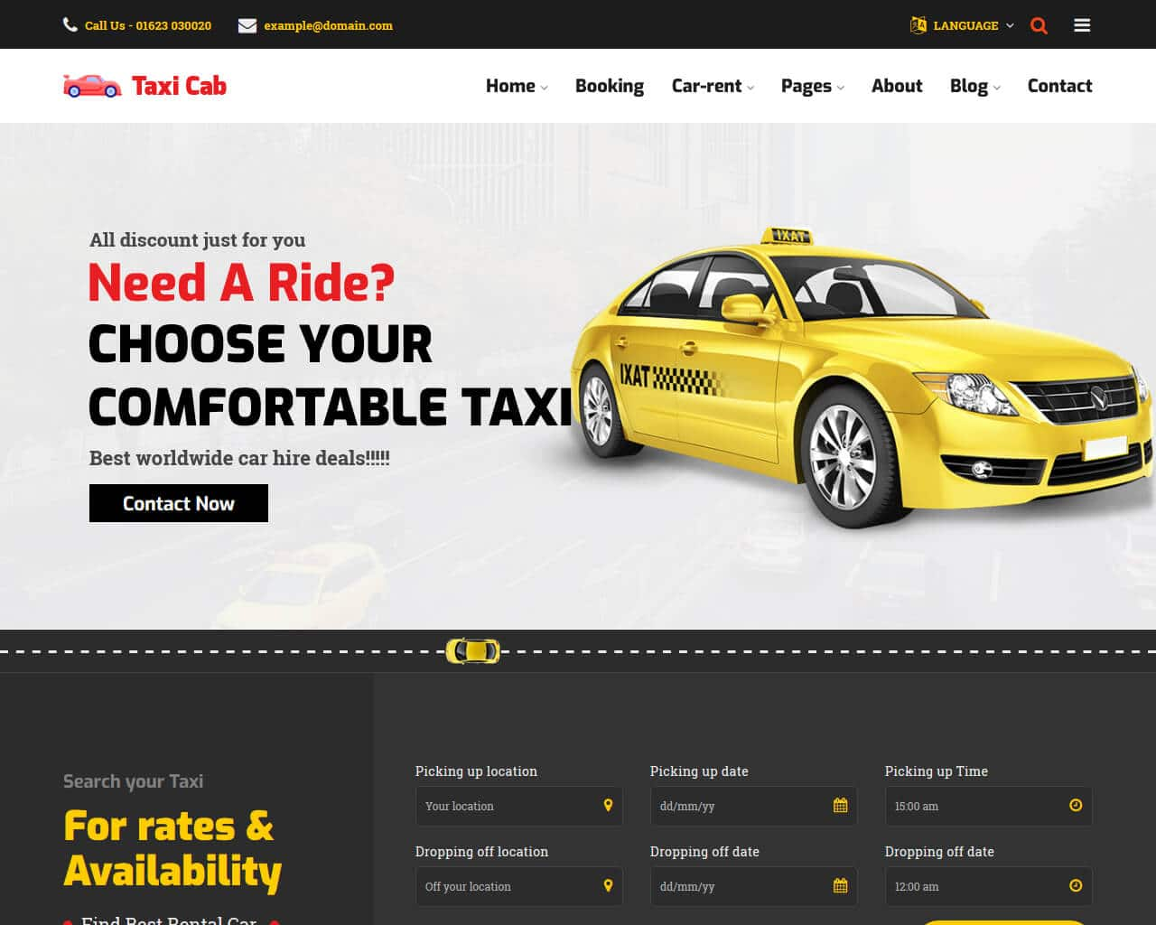 CarRent Website Template