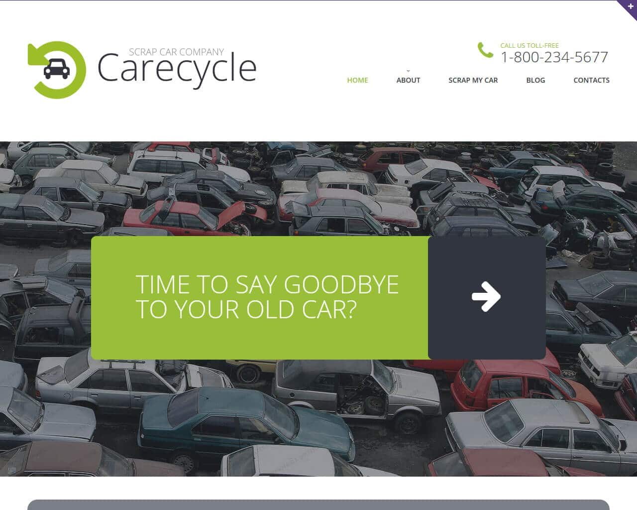 Car Scrap Website Template