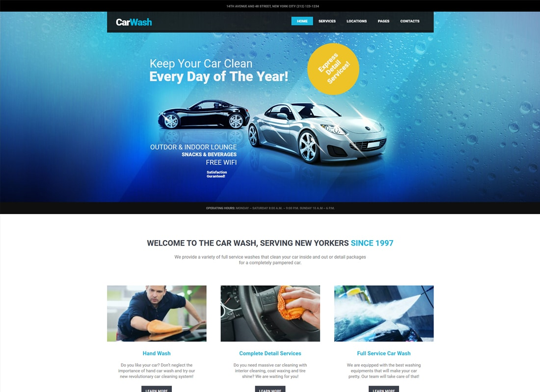 Car Wash, Auto Mechanic & Repair Shop WordPress Theme   Website Template