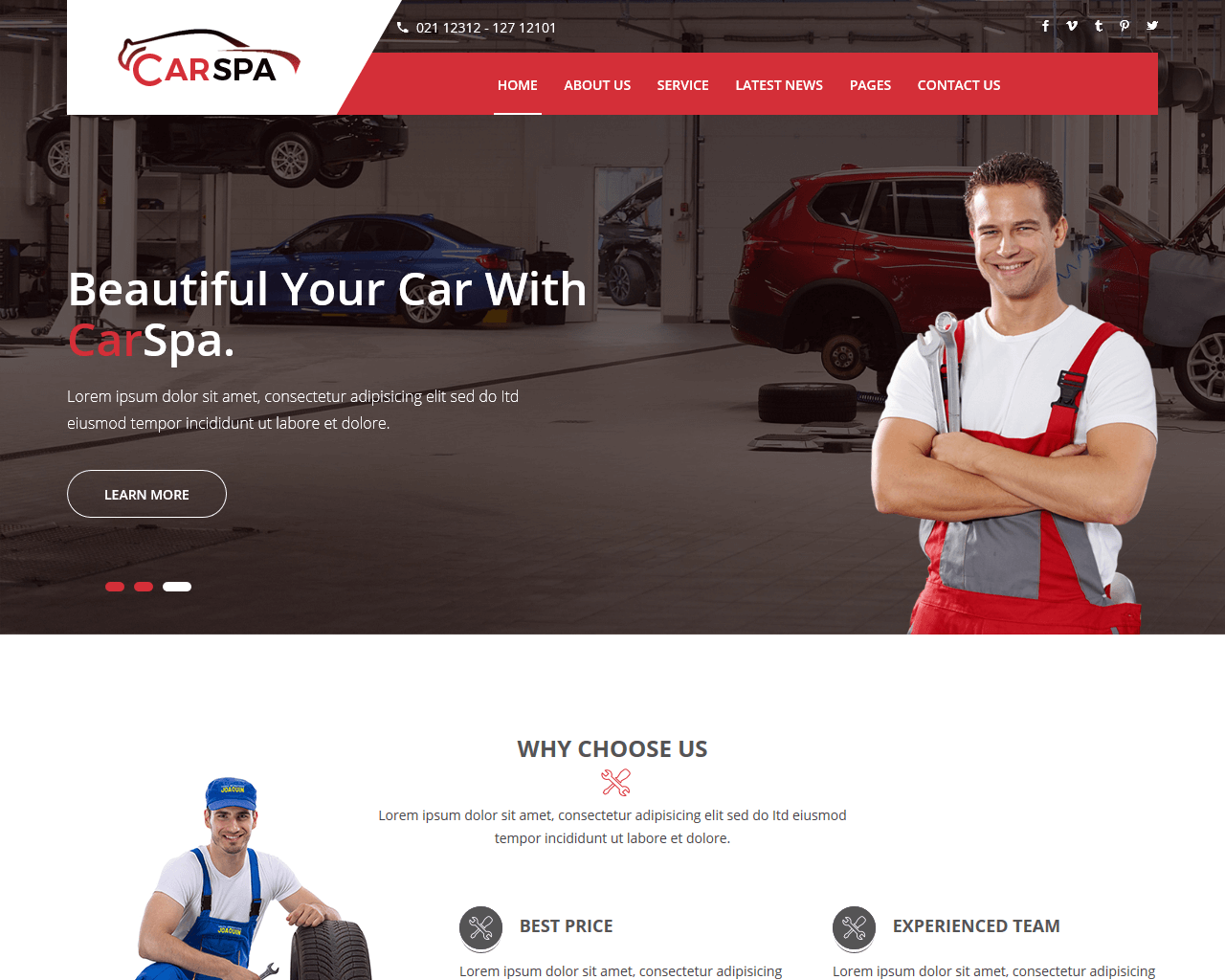 Carspa Website Template