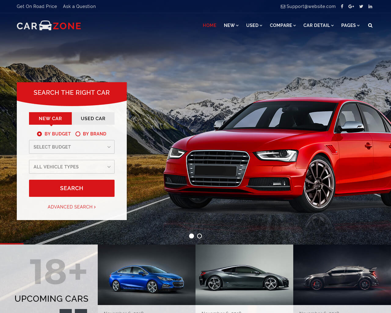 CarZone Website Template