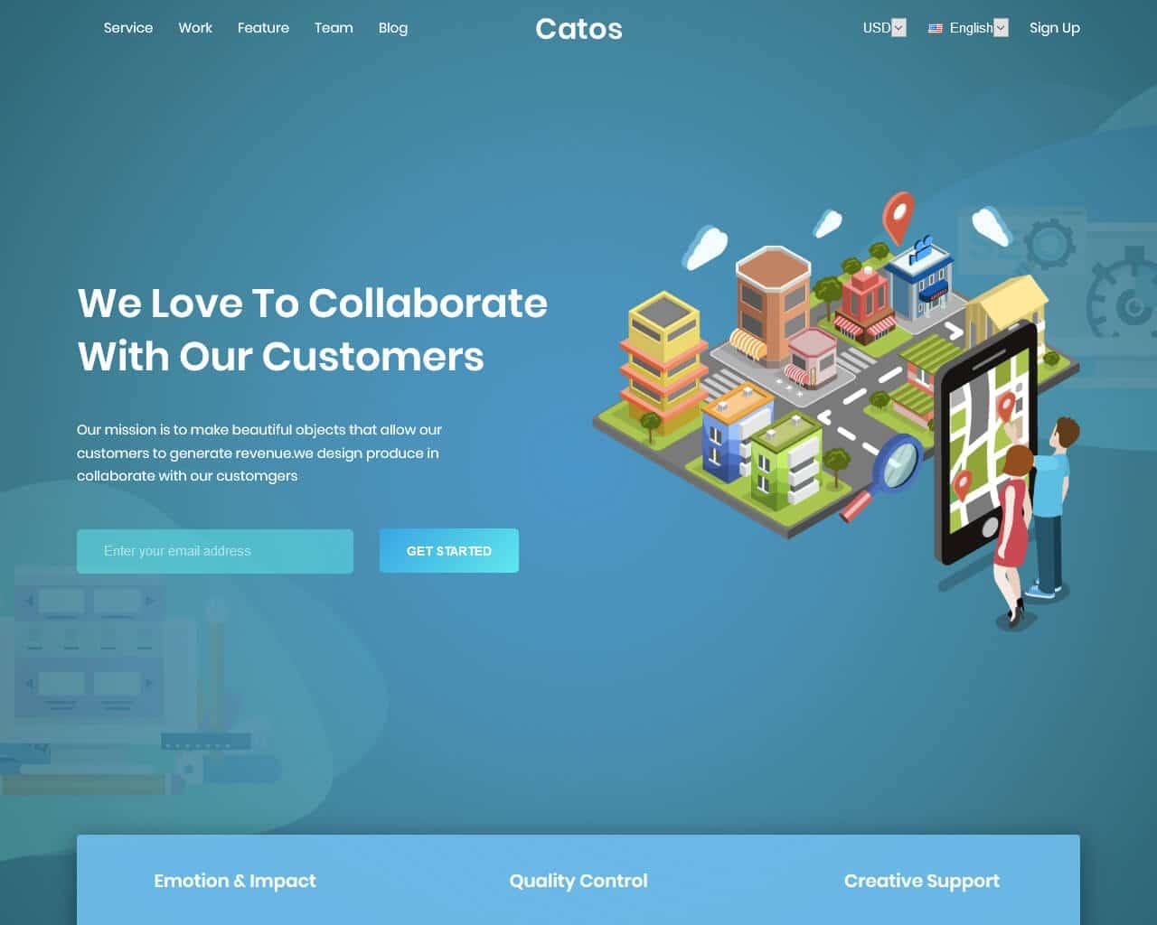 Catos Website Template
