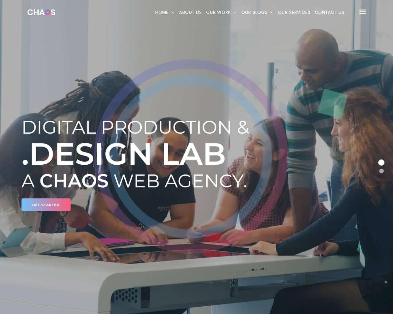 Chaos Website Template