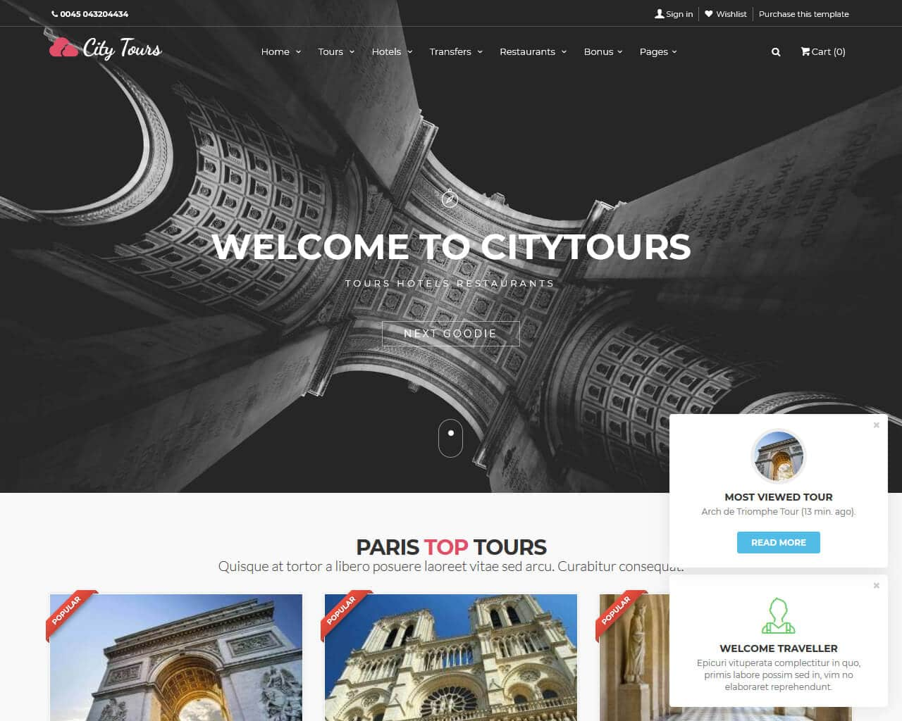 CityTours Website Template