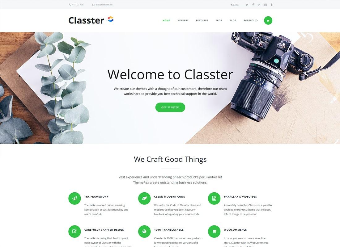 Classter | A Colorful Multi-Purpose WordPress Theme Website Template