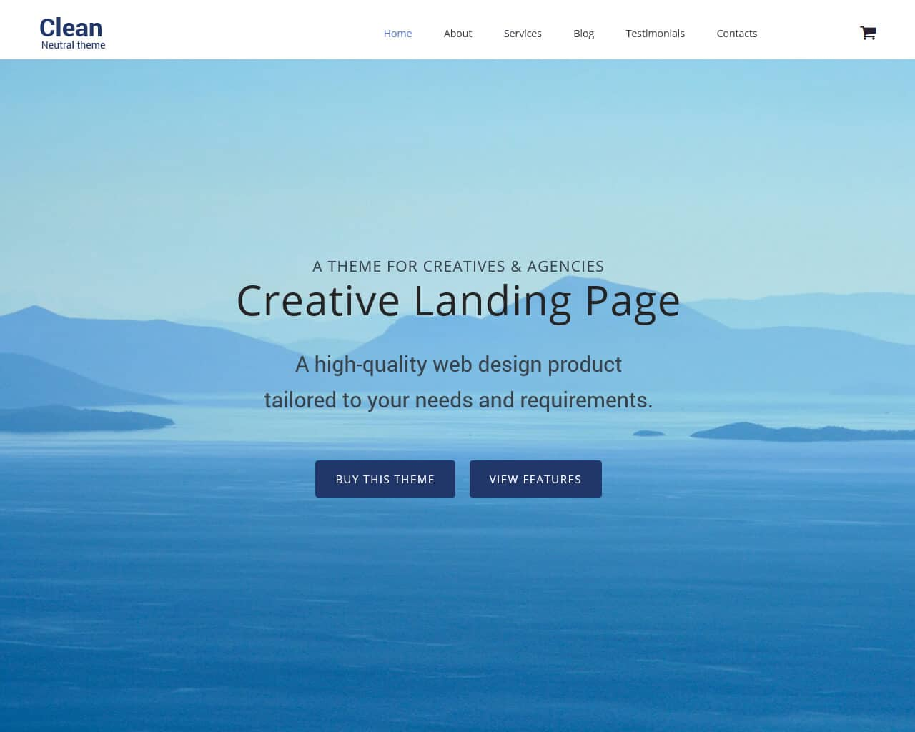 Clear Website Template