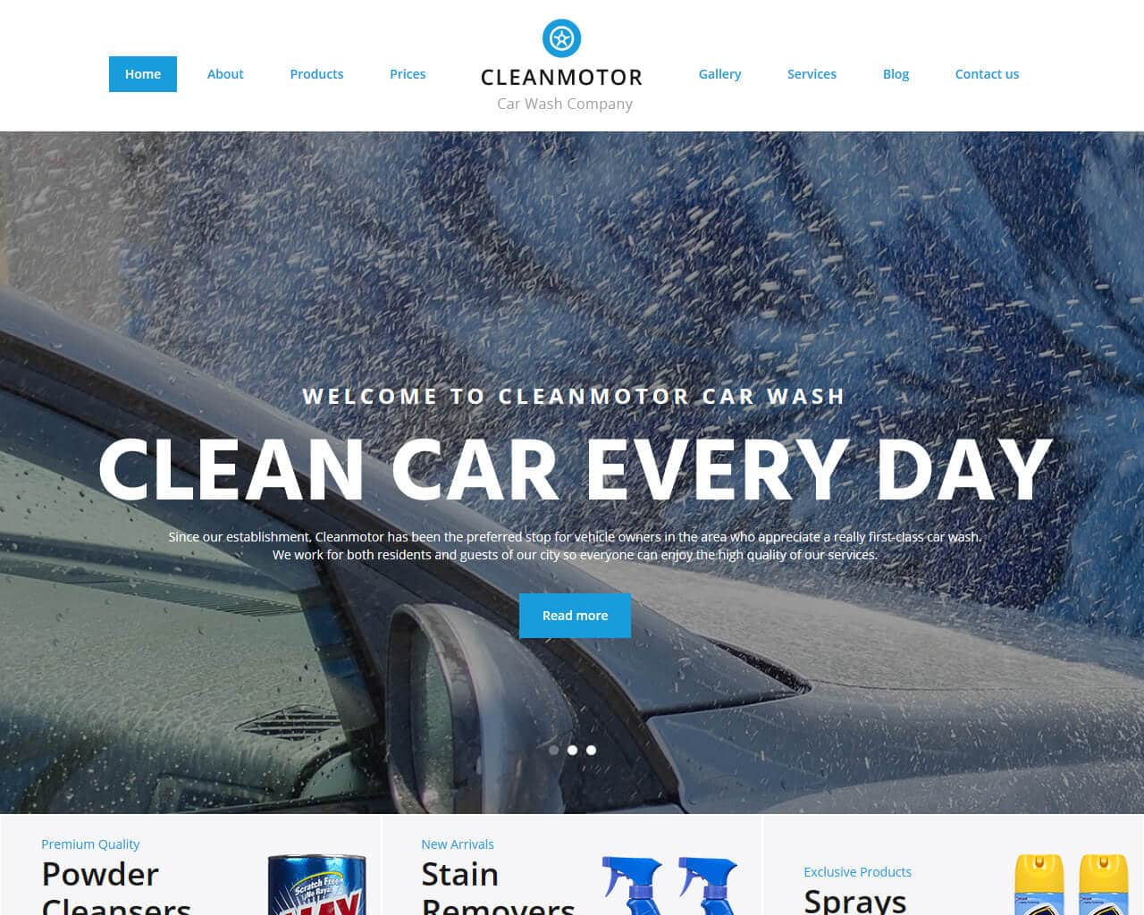 CleanMotor  Website Template
