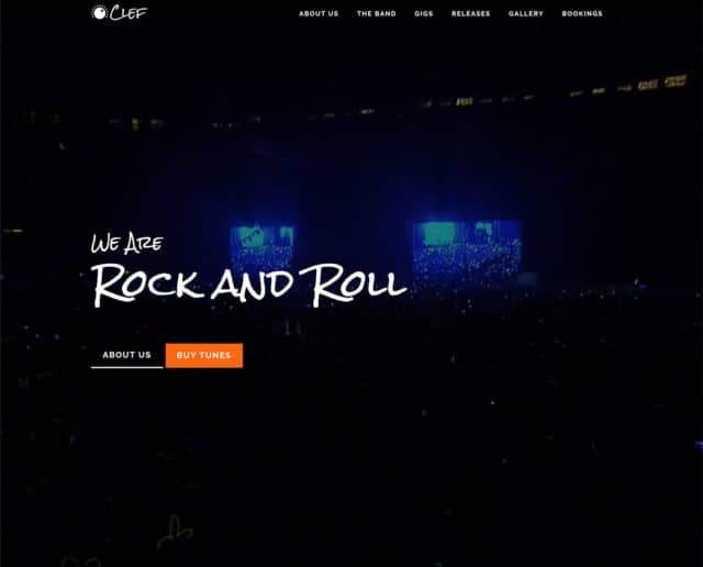 Clef – Band, DJ or Music Producer HTML Template