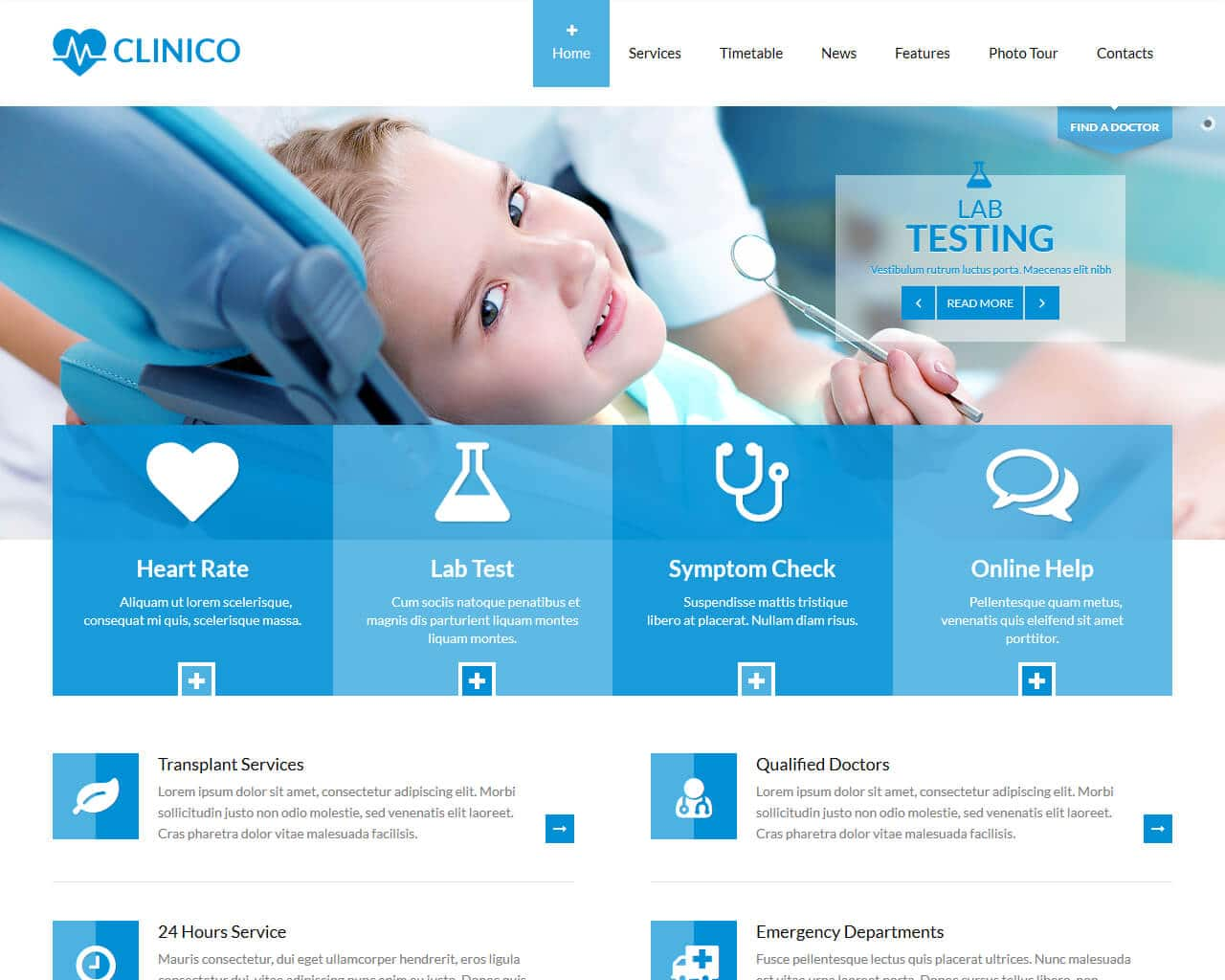 Clinico Website Template