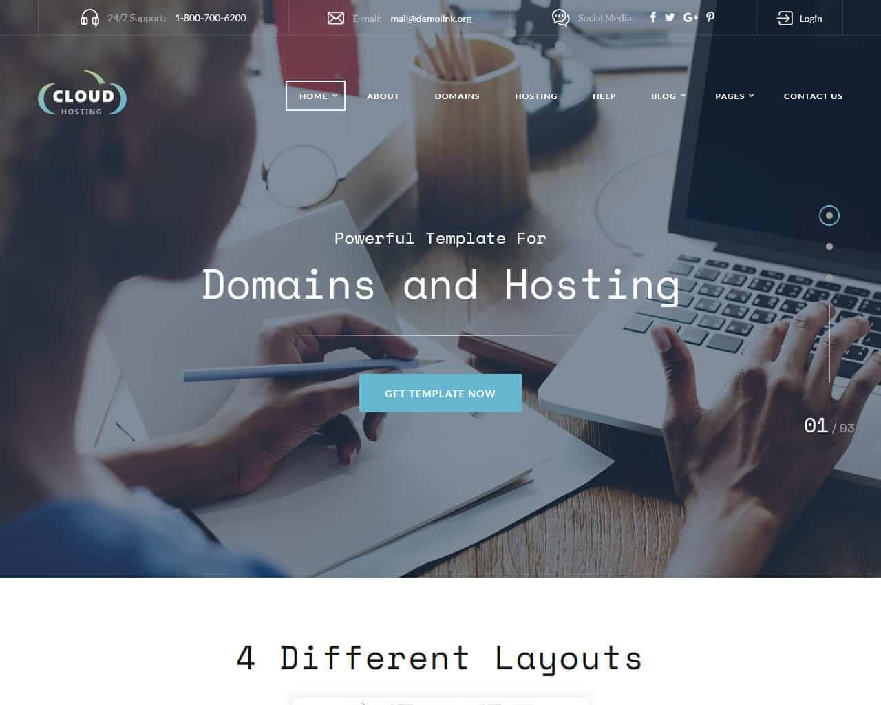 Cloud Website Template