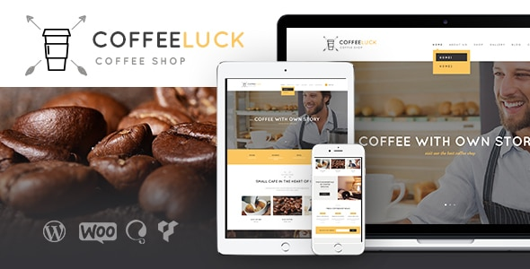 Coffee Luck | Cafe, Restaurant & Shop WordPress Theme Website Template