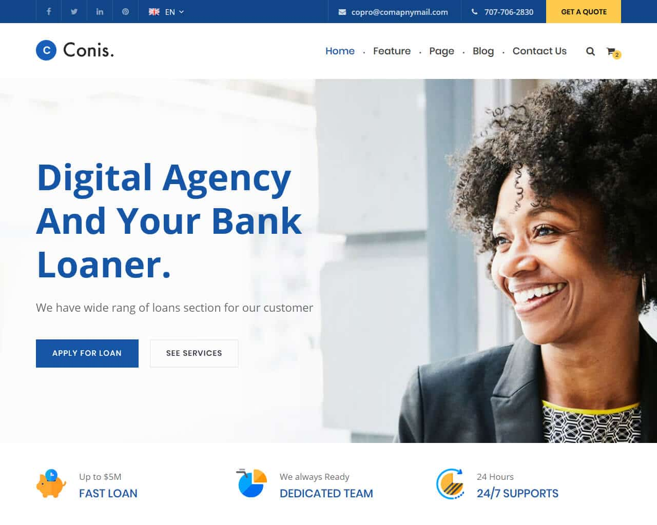 Conis Website Template