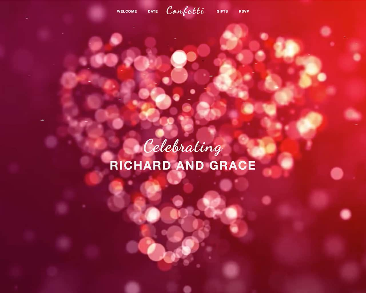 Confetti – Bootstrap Wedding Template