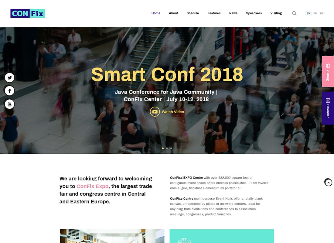 ConFix - Expo & Events WordPress Theme Website Template