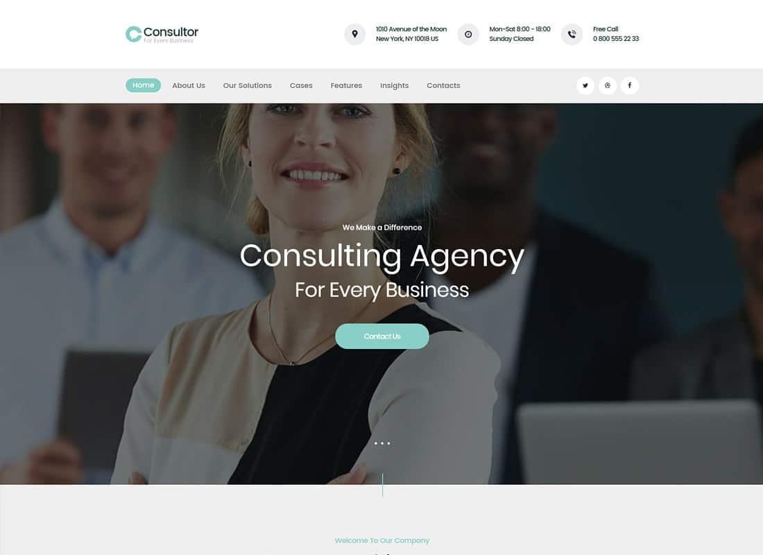 Consultor | A Business Financial Advisor WordPress Theme Website Template