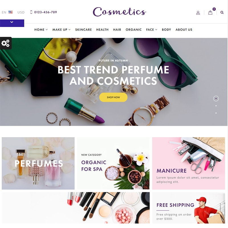 Cosmetics - Cosmetics Shop Template Website Template