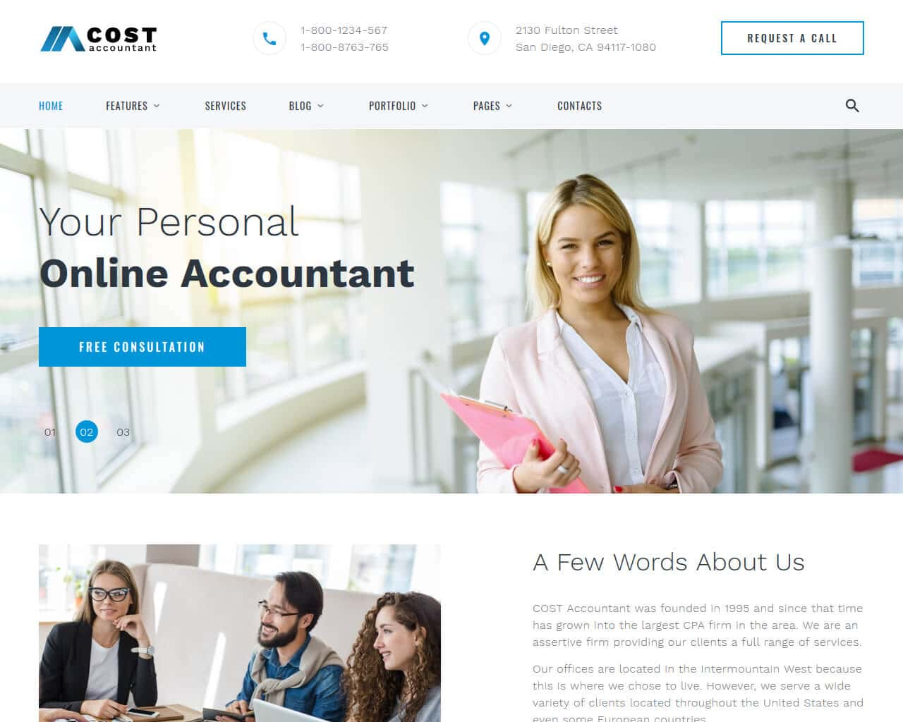 Cost Website Template