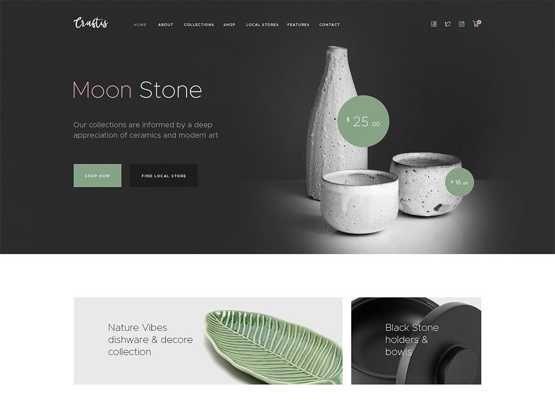 Craftis - Handcraft & Artisan WordPress Theme for Creatives  Website Template