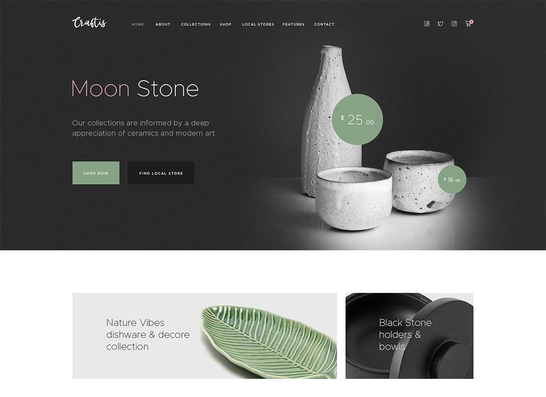 Craftis - Handcraft & Artisan WordPress Theme for Creatives Website Template