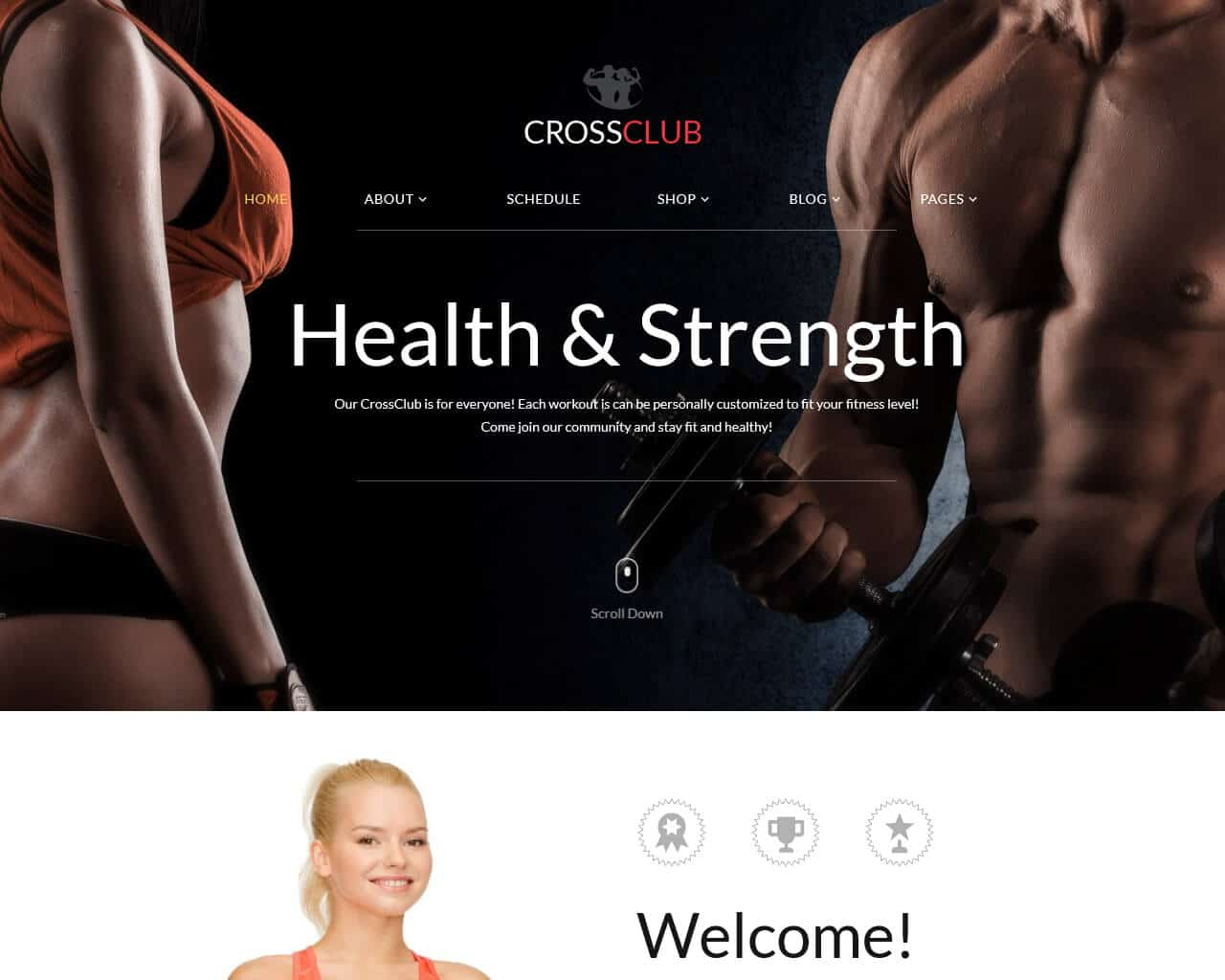 CrossClub Website Template