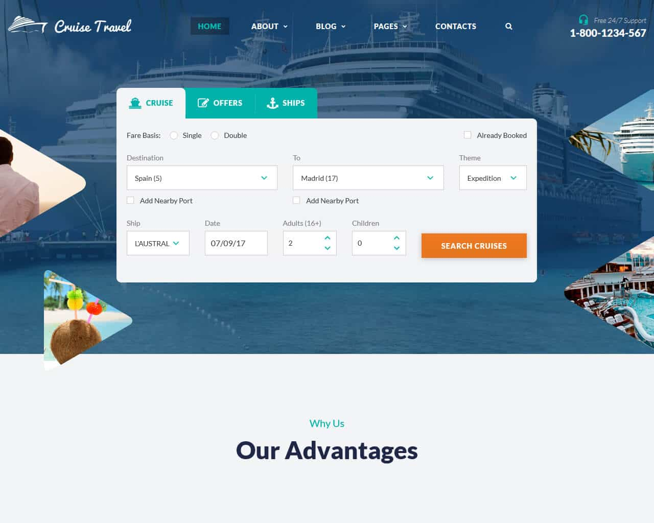 Cruise Travel Website Template