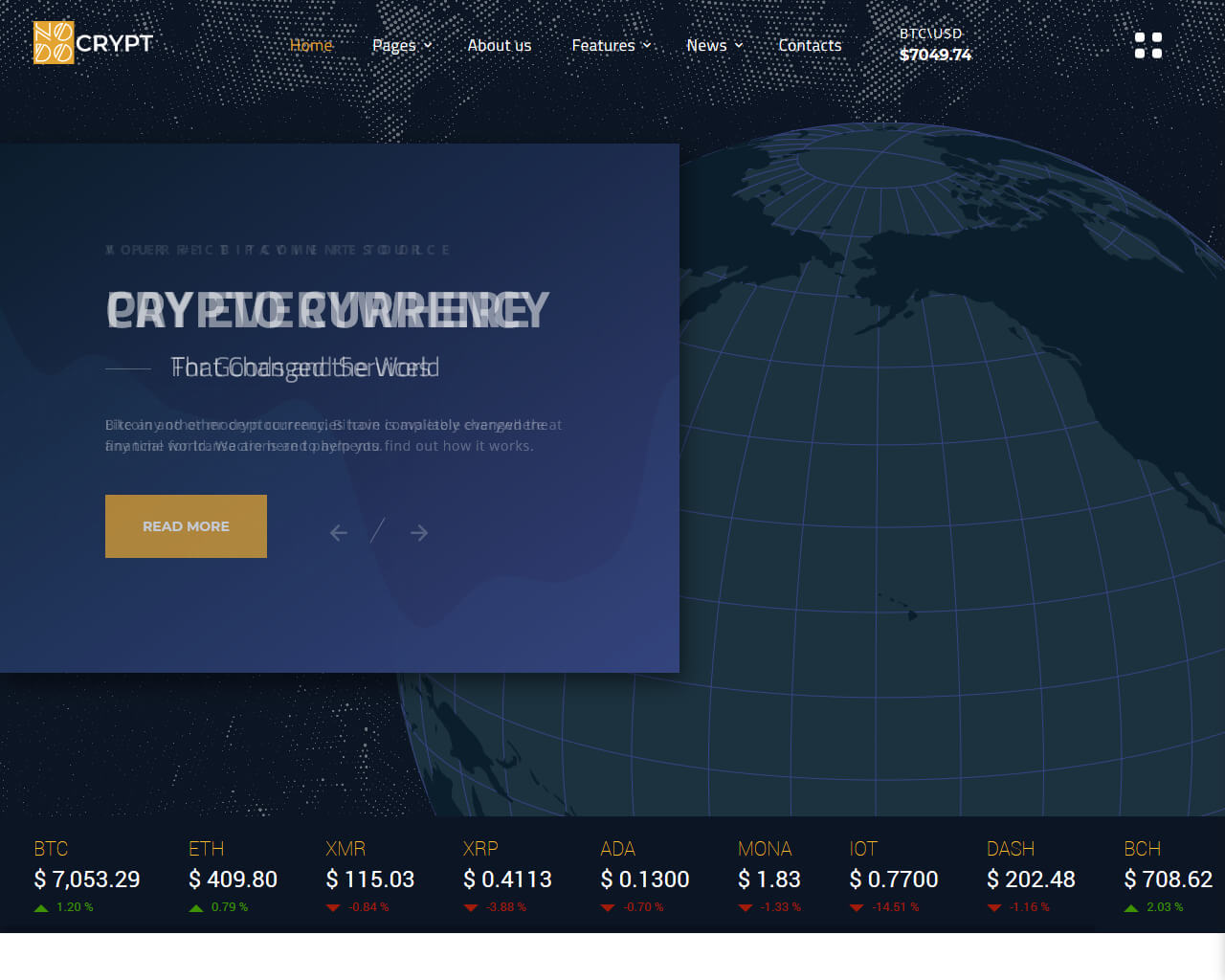Crypt Website Template