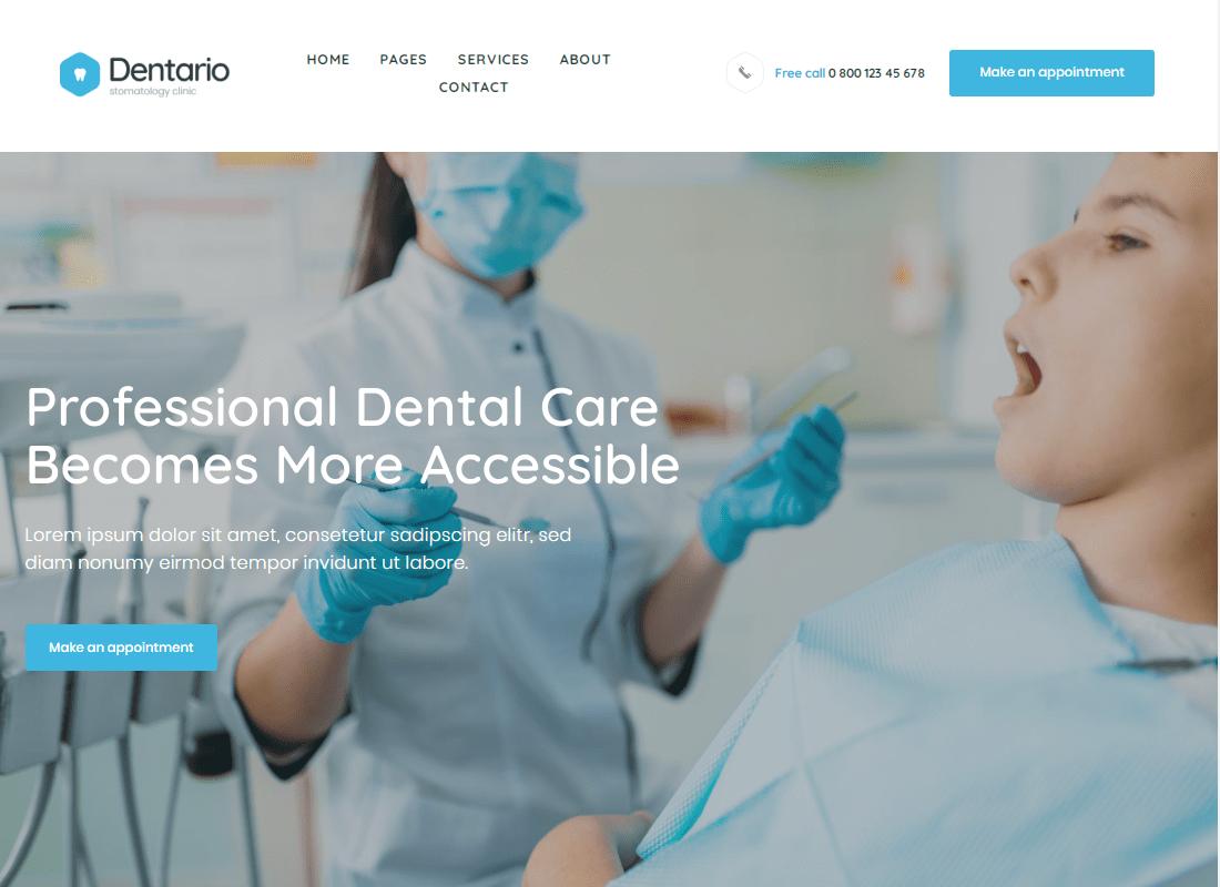 Dentario - Dentist & Medical Elementor Template Kit Website Template