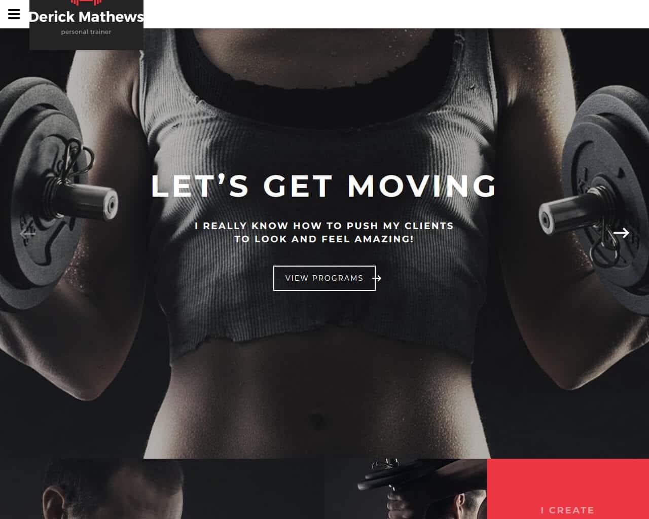 Derick Mathews Website Template