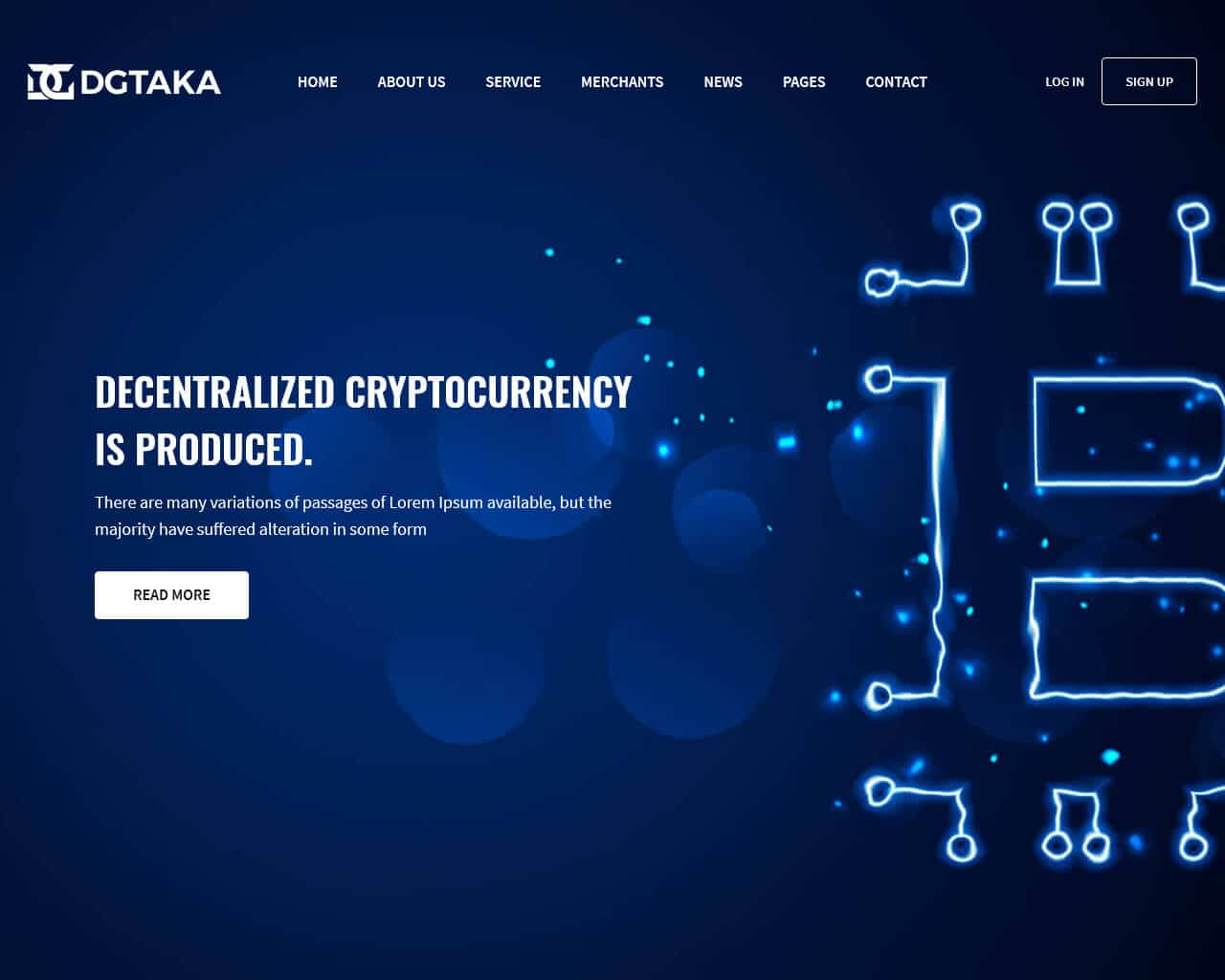 Dgtaka Website Template