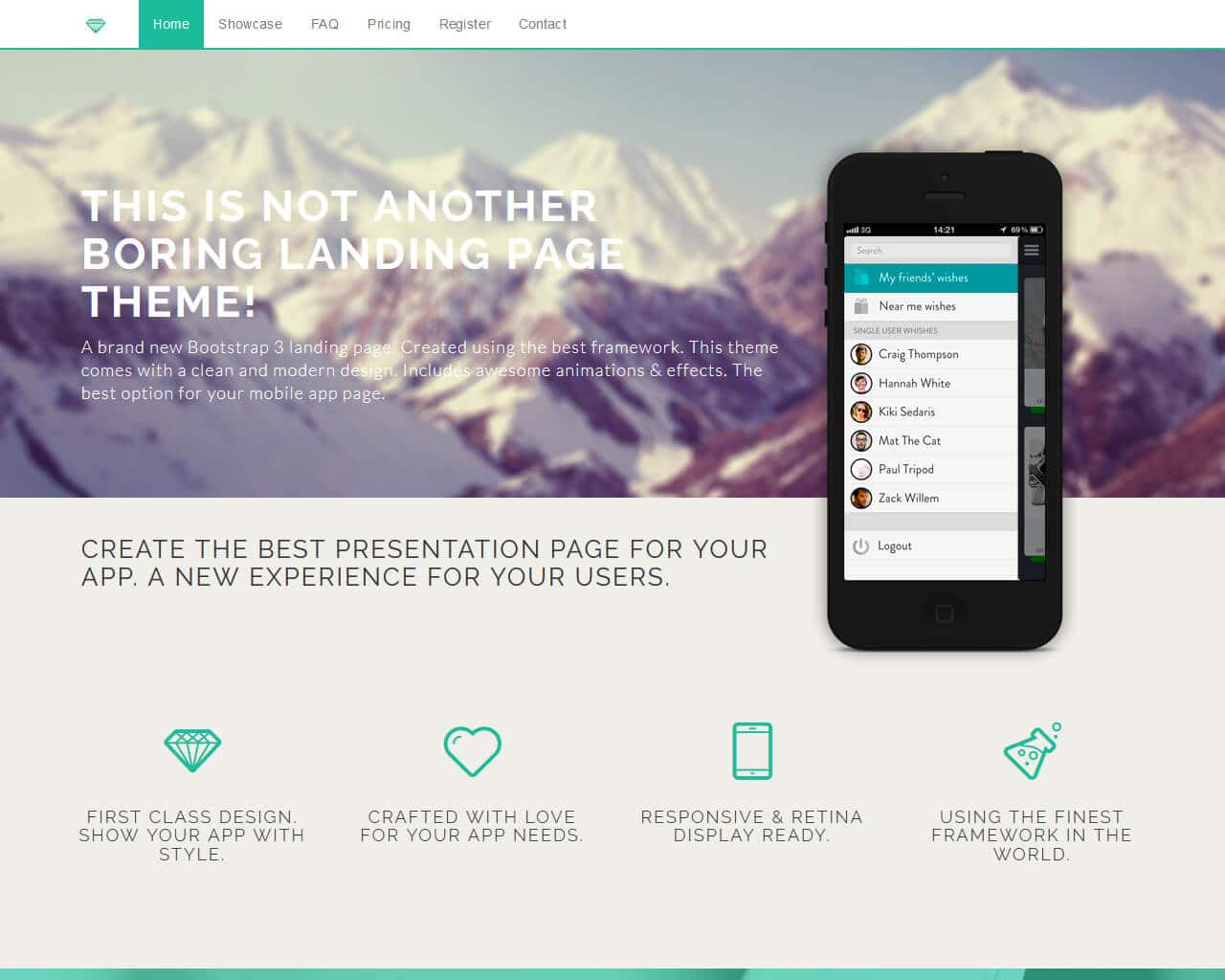 Diamond – Bootstrap Business Template