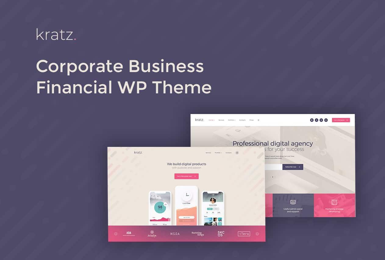 Kratz | Digital Agency Marketing and SEO WordPress Theme Website Template