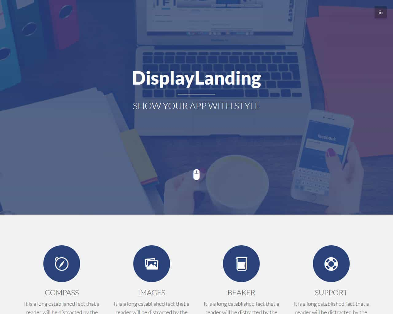 DisplayLanding Website Template