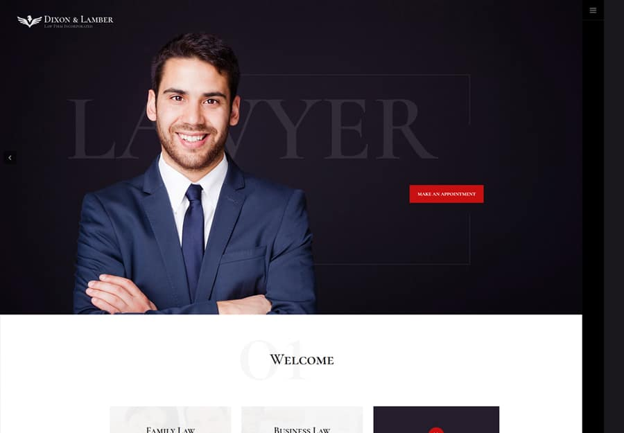 Dixon & Lamber | Law Firm WordPress Theme Website Template