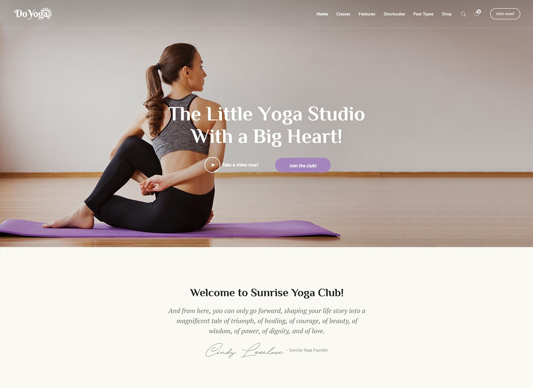 Do Yoga - Fitness Studio & Yoga Club WordPress Theme Website Template
