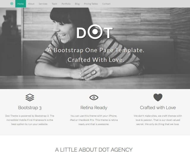 Dot – Bootstrap Agency Template