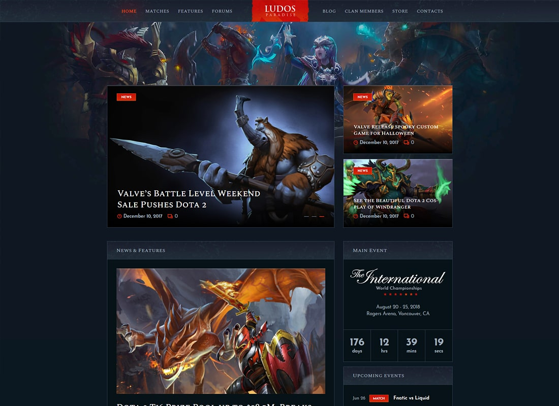 Ludos Paradise | Gaming Blog & Clan WordPress Theme Website Template