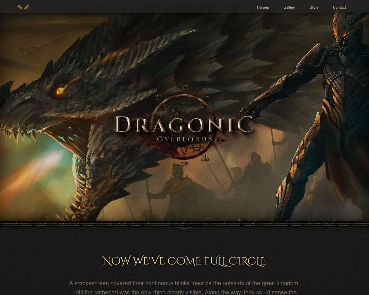 Dragonic Website Template