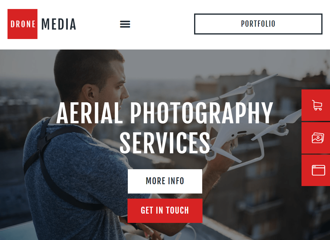 Drone Media - Aerial Photography & Videography Elementor Template Kit Website Template