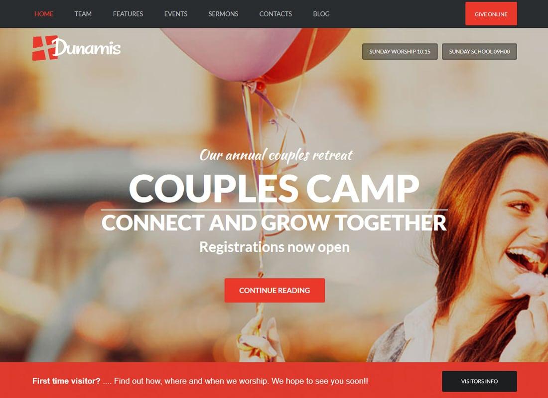 Dunamis | Modern Church theme Website Template