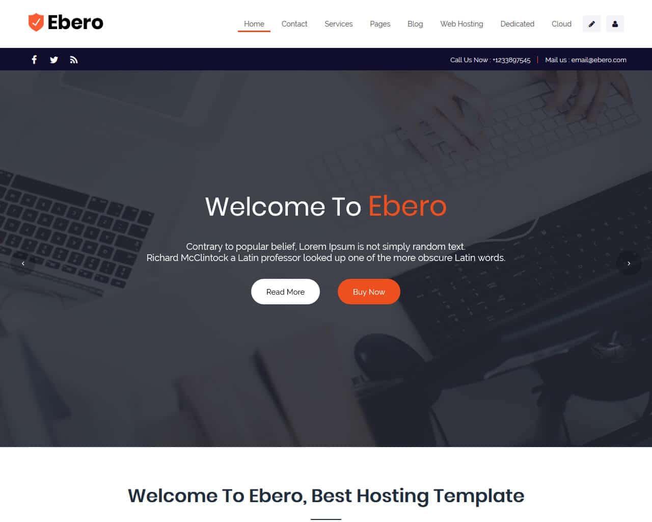 Ebero Website Template