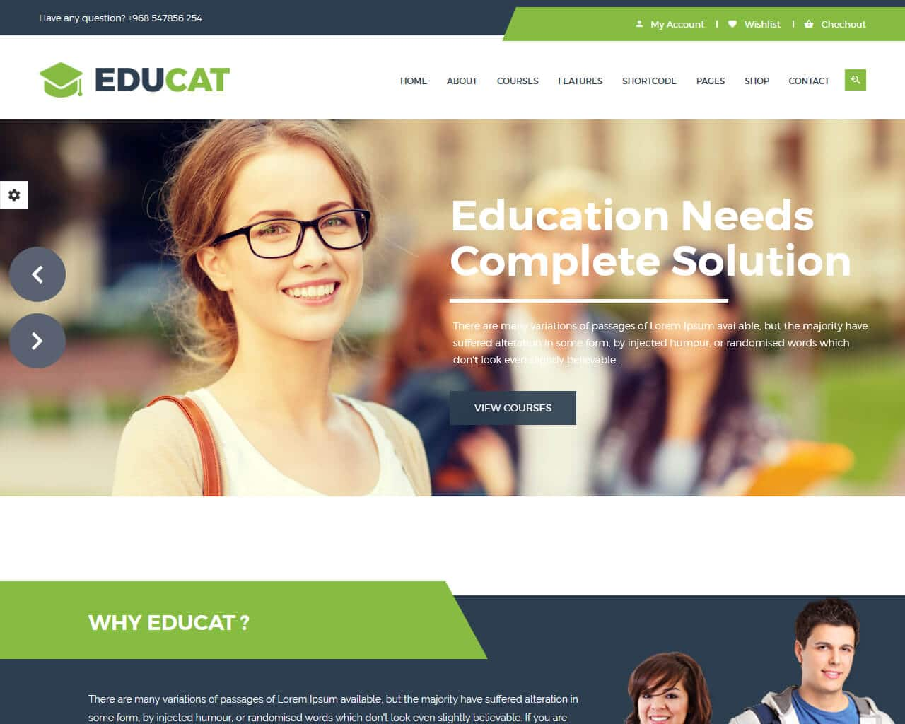 Educat Website Template