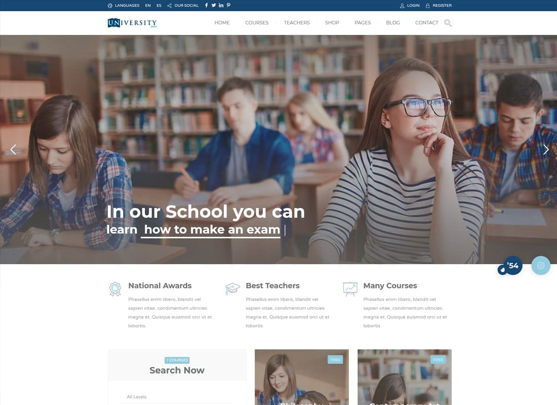 Education Pack - Education Learning Theme WP   Website Template