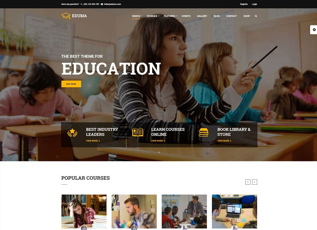 Education WordPress Theme | Education WP   Website Template